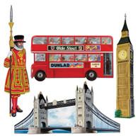 British Themed Cutouts