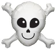 Foil Supershape Happy Skull & Cross Bones Balloon | Qualatex