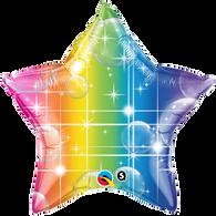Qualatex Rainbow Colour Star Foil Balloon