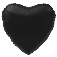 Foil Heart Shaped Black Balloon | Northstar Balloons