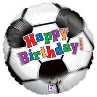 Happy Birthday Soccer Foil Balloon