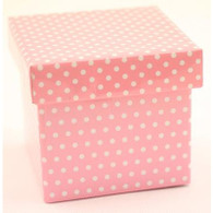 Contents Pale Pink Polka Dot Party Topiary Boxes