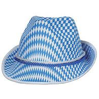 Oktoberfest Blue & White Alpine Hat