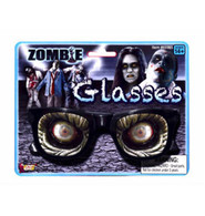 Halloween Zombie Glasses with Zombie Eyes