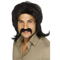 70's Black Retro Wig | Smiffy's