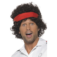 80's Tennis Player Wig with Headband | Smiffy's