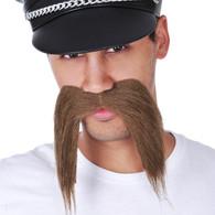Dr Tom's Barber Shop Long Brown Mustache