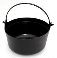 Halloween Black Plastic Witches Cauldron | TNW