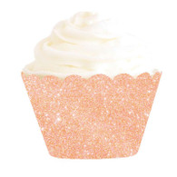Rose Gold Glitter Cupcake Wrappers | Illume Partyware