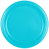 Premium Luncheon Paper Plates Bermuda Blue | Touch of Color
