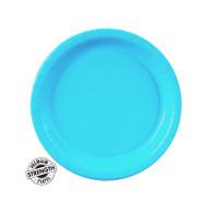 Premium Snack Paper Plates Bermuda Blue | Touch of Color