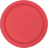 Premium Luncheon Paper Plates Coral | Touch of Color
