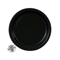 Premium Snack Paper Plates Black Velvet | Touch of Color