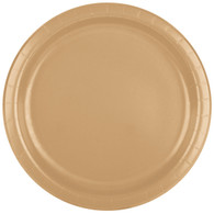 Premium Luncheon Paper Plates  Glittering Gold | Touch of Color