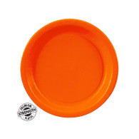 Premium Snack Paper Plates Sunkissed Orange | Touch of Color