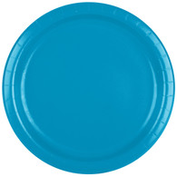 Premium Luncheon Paper Plates Turquoise Blue | Touch of Color