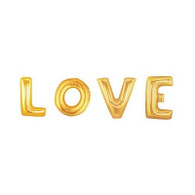"Jumbo Foil Letter ""LOVE"" Gold Balloon Package 