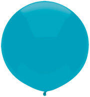 "17"" Round Outdoor Latex Balloon Island Blue 