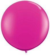 Latex Round 45cm Outdoor Fuchsia Pink Balloon | Qualatex