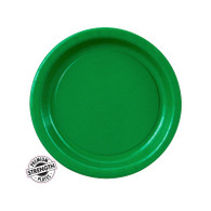 Premium Snack Paper Plates Emerald Green | Touch of Color