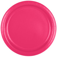 Premium Luncheon Paper Plates Hot Magenta | Touch of Color