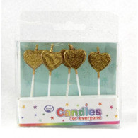 Candles Gold Glitter Heart | Alpen