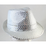 Silver Sequin Fedora Hat | Party Time