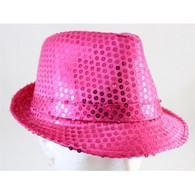 Pink Sequin Fedora Hat | Party Time