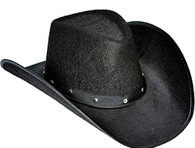 Black Western Cowboy Hat with Studs | Party Time