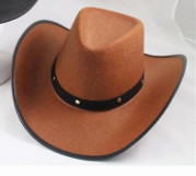 Brown Western Cowboy Hat | Party Time