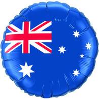 Foil Round Australian Flag Balloon | Qualatex