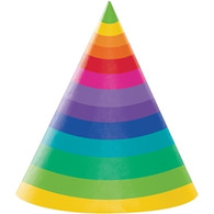 Rainbow Stripes Party Hats | Creative Converting