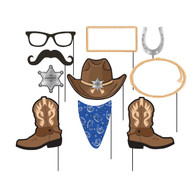 Blue Bandana Cowboy Photo Booth Props | Creative Converting