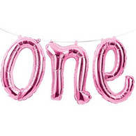 1st Birthday Pink 'One' Balloons Banner | Creative Converting