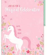 Unicorn Garden Party Invitation | Artwrap