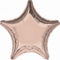Star Shaped Foil Rose Gold Foil Balloon | Anagram