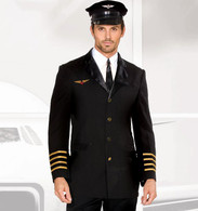 Airline Pilot Adult Fancy Dress Costume |