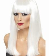 Glamourama White Wig | Smiffy's