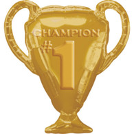 Foil Supershape #1 Champion Gold Cup Balloon | Anagram