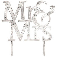 Mr & Mrs Silver Diamonte Cake Topper | Amscan