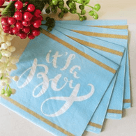 It's A Boy Blue Serviettes | Shmick