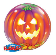 Halloween Jack O Lantern Bubble Balloon | Qualatex