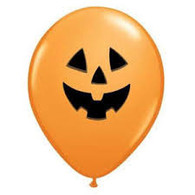 "Orange Jack O Lantern 16"" Latex Balloons 