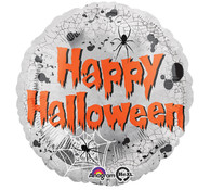 Happy Halloween Silver Spider Foil Balloon | Anagram