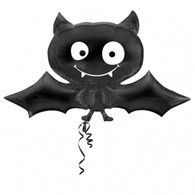 Black Bat Halloween Foil Balloon | Anagram