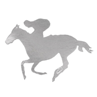 Melbourne Cup Silver Horse & Rider Cutout | Contents