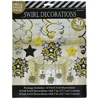 Hollywood Swirl Star Decorations | Amscan