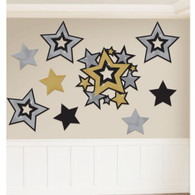Hollywood Printed Cutouts Party Wall Decoration | Amscan
