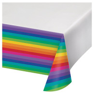 Rainbow Plastic Party Tablecover   Creative Converting