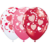 Love Assorted Etched Hearts-A-Round | Qualatex